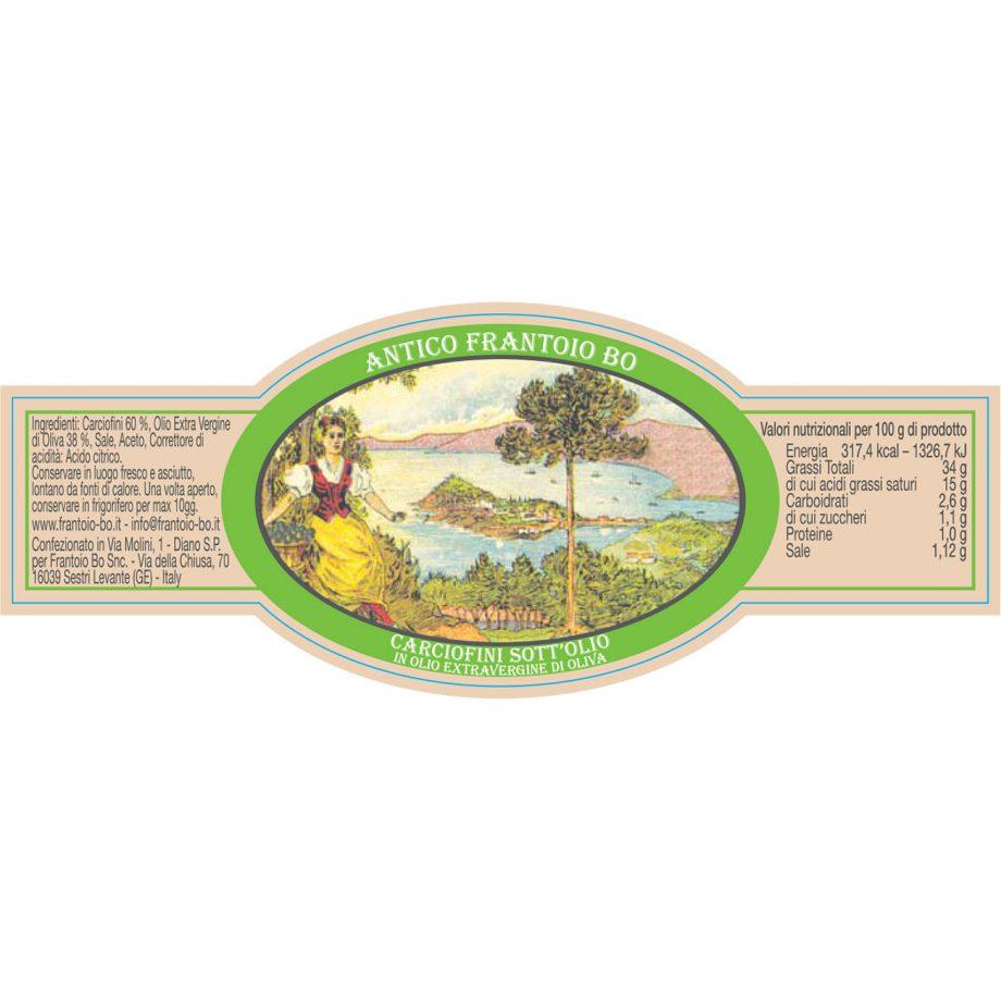 Carciofini in olio extravergine di oliva - vaso vetro gr. 180