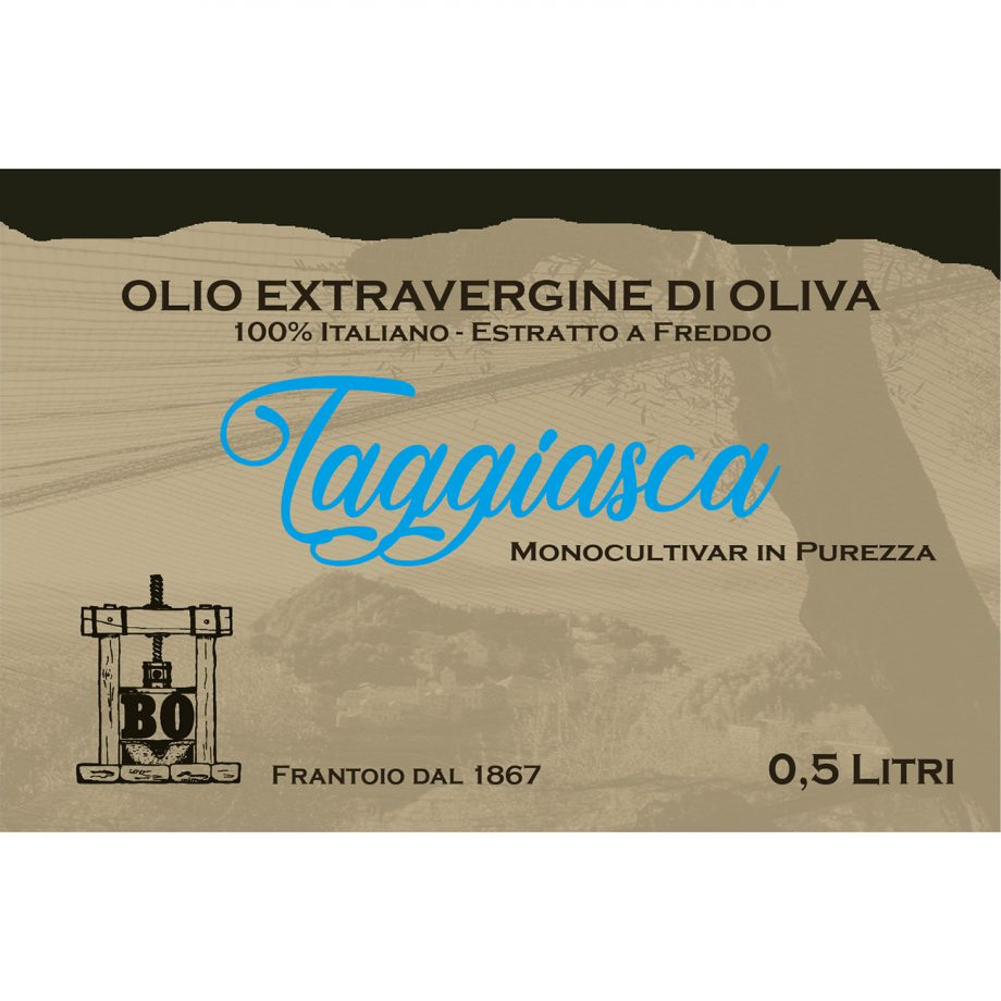 Olio extravergine monocultivar Taggiasca 0,5lt