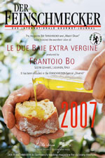 "DER FEINSCHMECKER and ""Mastri Oleari"" have honored the excellent olive oil LE DUE BAIE EXTRAVERGINE"